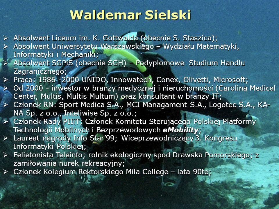 Warszawa, 11.10.2010 r.Waldemar Sielski3 Edukacja – moja wizja The great aim of education is not knowledge, but action; Herbert Specncer The whole purpose of education is to turn mirrors into windows; Sydney J.