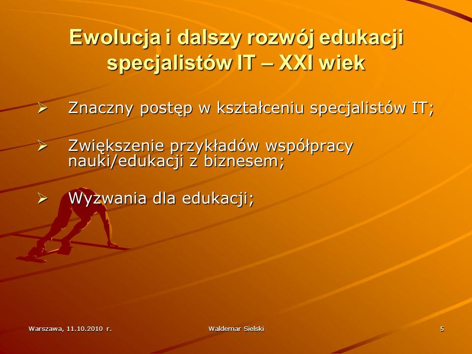 Warszawa, 11.10.2010 r.Waldemar Sielski6 Przykłady z rynku amerykańskiego Digital Equipment Corporation; Sun Microsystems; Facebook;