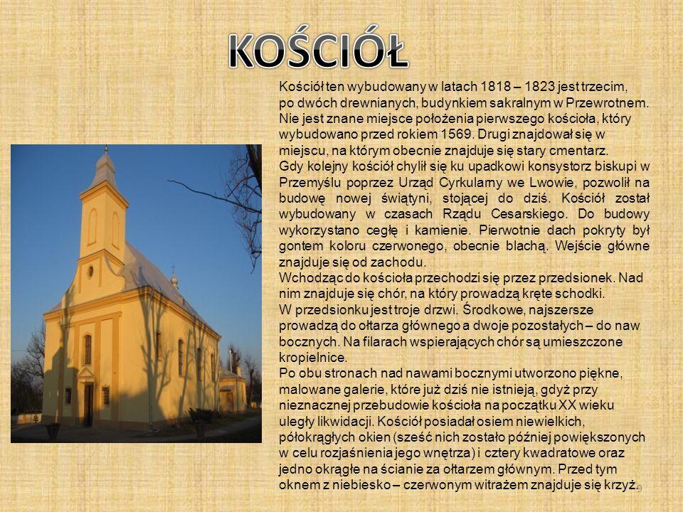 Kościół ten wybudowany w latach 1818 – 1823 jest trzecim, po dwóch drewnianych, budynkiem sakralnym w Przewrotnem. Nie jest znane miejsce położenia pi