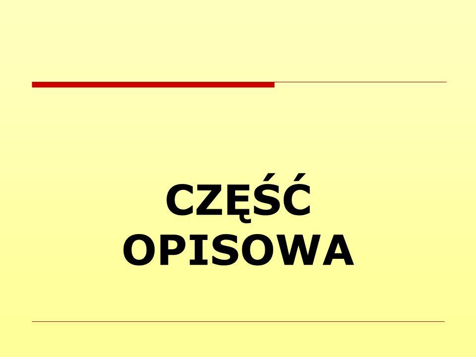 CZĘŚĆ OPISOWA