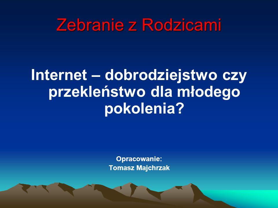 Korzyści związane z korzystaniem z sieci Internet Istnieje możliwość przesyłania różnych plików między komputerami.