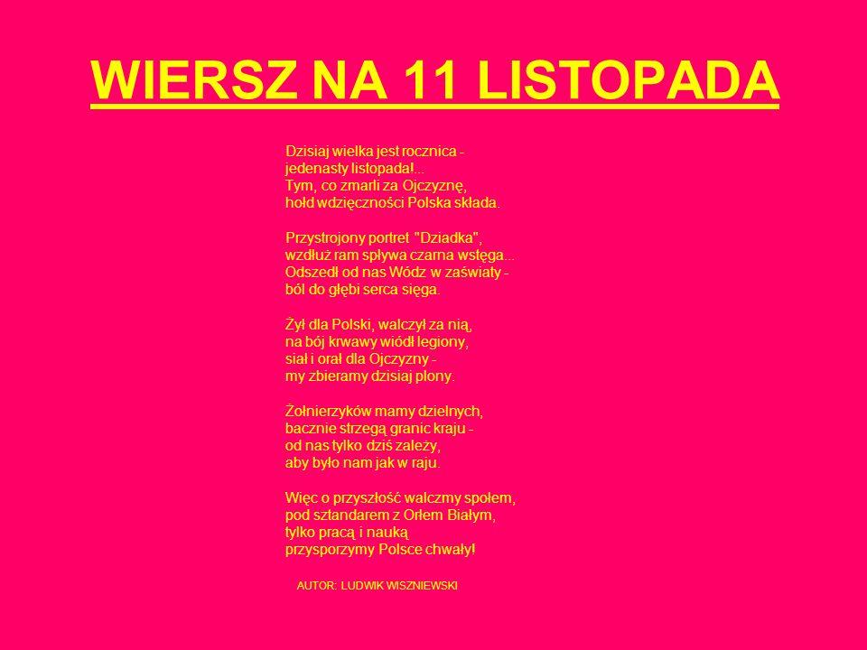 11 listopada Święto Niepodległości Polski