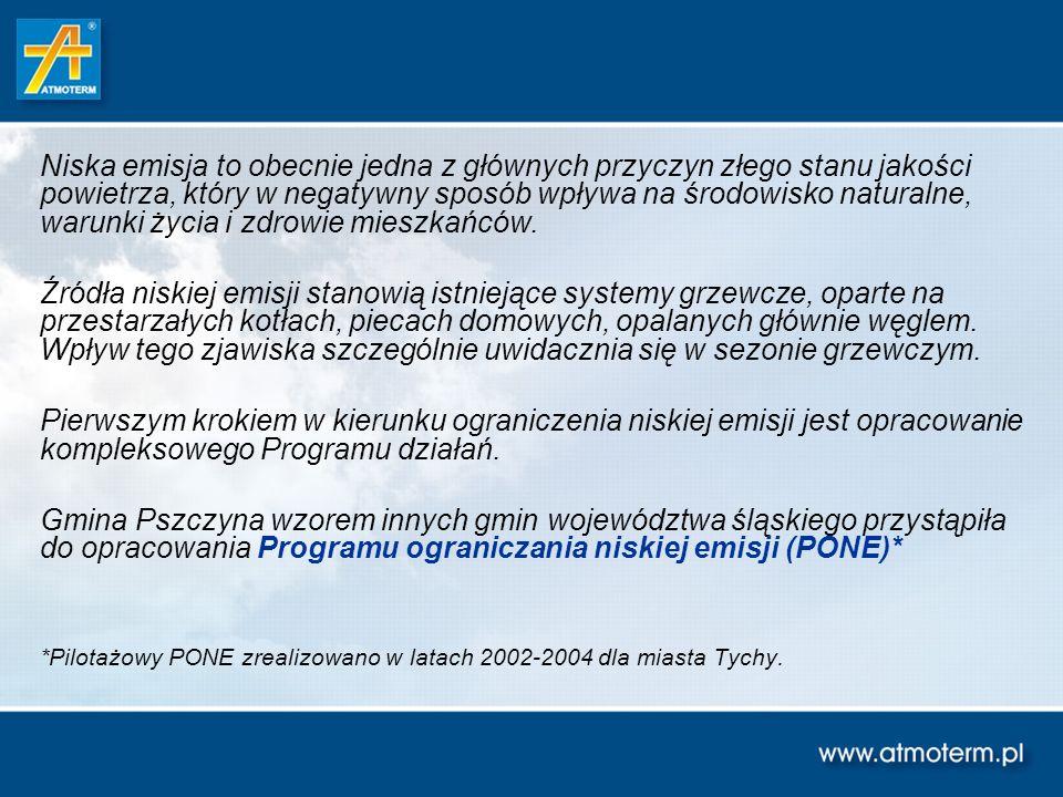 Szacunkowe koszty wybranych wariantów ograniczania niskiej emisji na terenie gminy Pszczyna Założono następujące średnie koszty jednostkowe: - koszt kotła retortowego – ok.