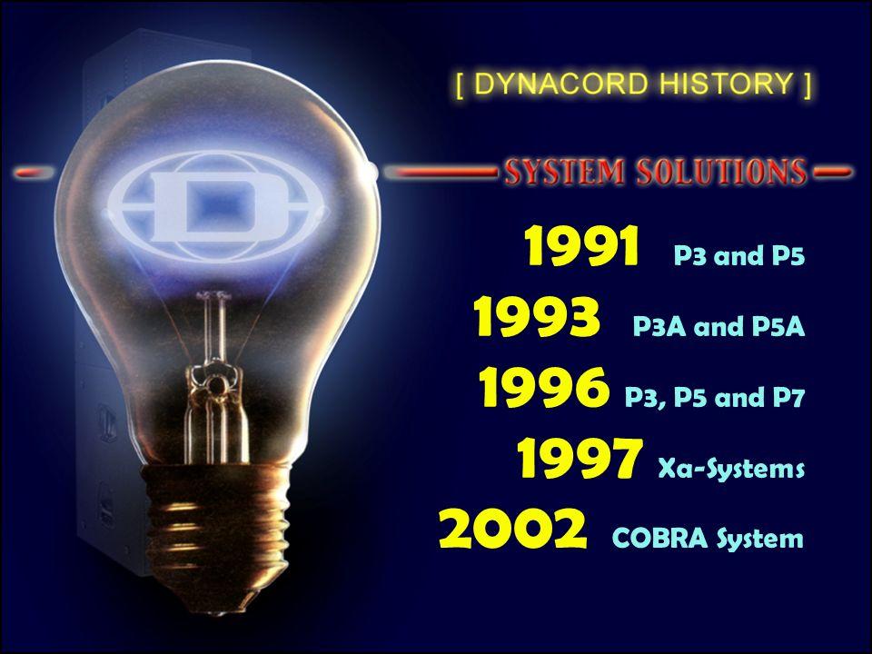 1991 P3 and P5 1993 P3A and P5A 1996 P3, P5 and P7 1997 Xa-Systems 2002 COBRA System