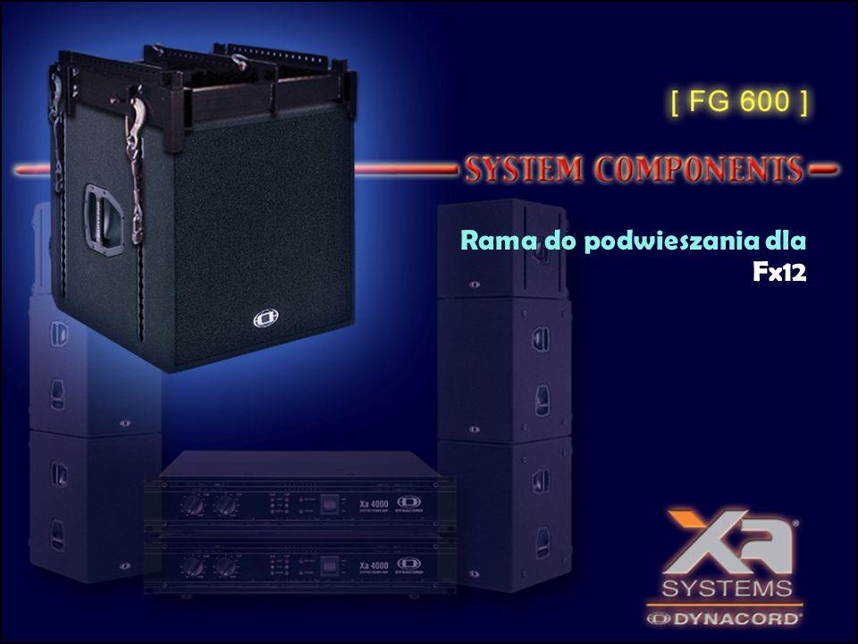 Planar Waveguide (pat.) Horn nisko tonowy EVX180B Szacowana moc RMS = 600 W SPL 1W/1m = 101 dB SPLmax = 132 dB 30 Hz – 150 Hz
