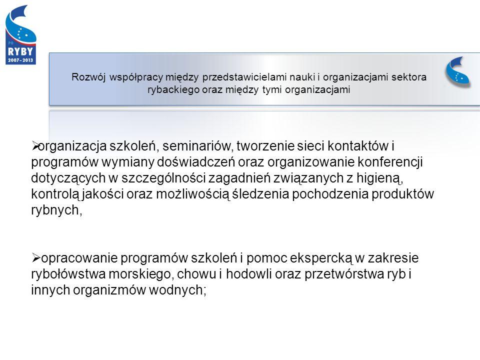 Polska Akademia Nauk lub jej placówki prowadzące badania w zakresie rybołówstwa morskiego lub rybactwa śródlądowego; szkoły wyższe kształcące w zakresie rybołówstwa morskiego lub rybactwa śródlądowego; podmioty wykonujące działalność w zakresie chowu, hodowli, połowu, wprowadzaniu na rynek, obrotu i przetwarzania produktów rybnych oraz podmiotom prowadzącym działalność okołorybacką; organizacje producentów i ich związki.