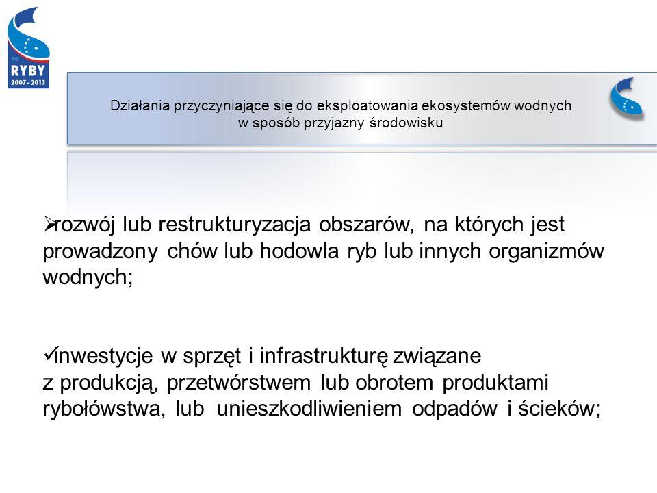 budowa sztucznej rafy w polskich obszarach morskich, w tym: a)zakup lub budowę części składowych rafy, b) czyszczenie statków, które mają być zatopione jako część sztucznej rafy, c) transport części składowych rafy lub materiałów niezbędnych do jej budowy, d) montaż, ustalanie położenia oraz zatapianie sztucznej rafy, e) urządzenia sygnalizujące i ochronne, w tym dla morskich obszarów chronionych;