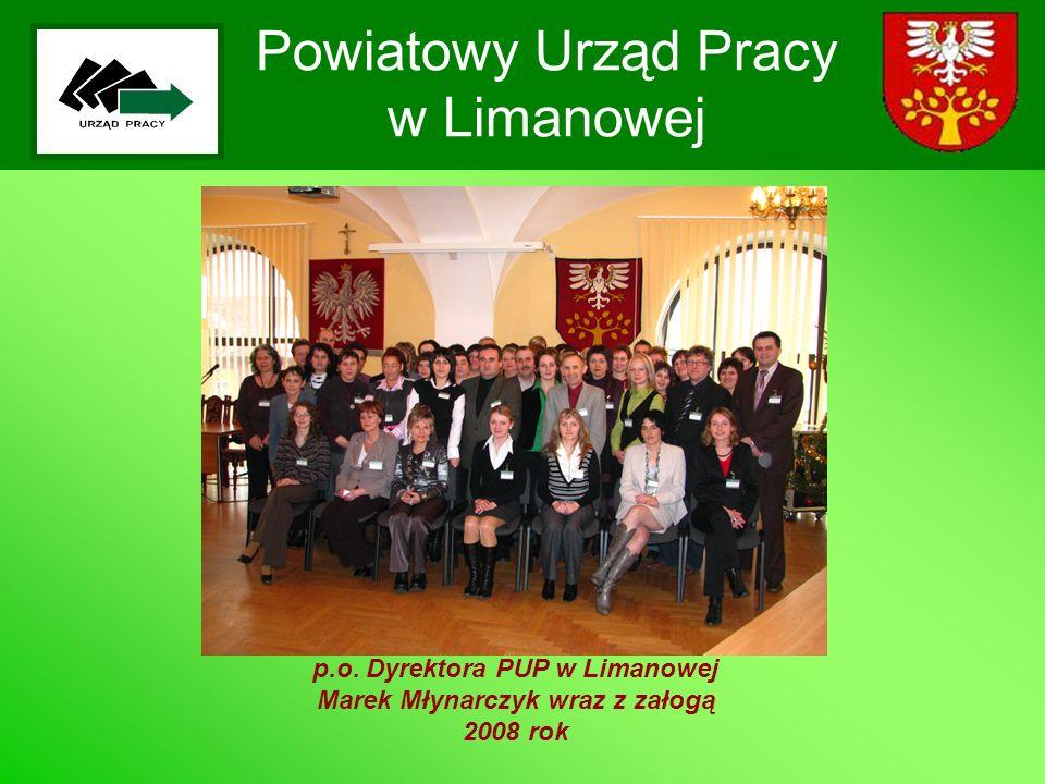 Powiatowy Urząd Pracy w Limanowej p.o. Dyrektora PUP w Limanowej Marek Młynarczyk wraz z załogą 2008 rok