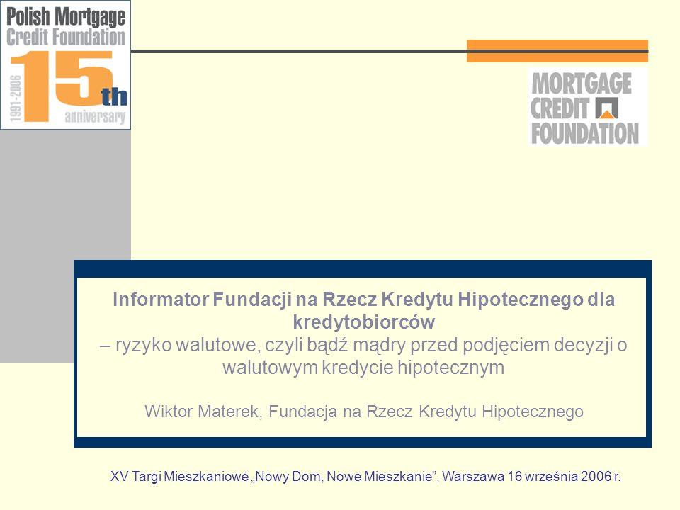 Plan prezentacji Wstęp Kilka słów o Fundacji Prezentacja Informatora Nieco Teorii Podstawowe dane Najważniejsze elementy Praktyka Symulacje Kruczki w umowach Pytania i uwagi