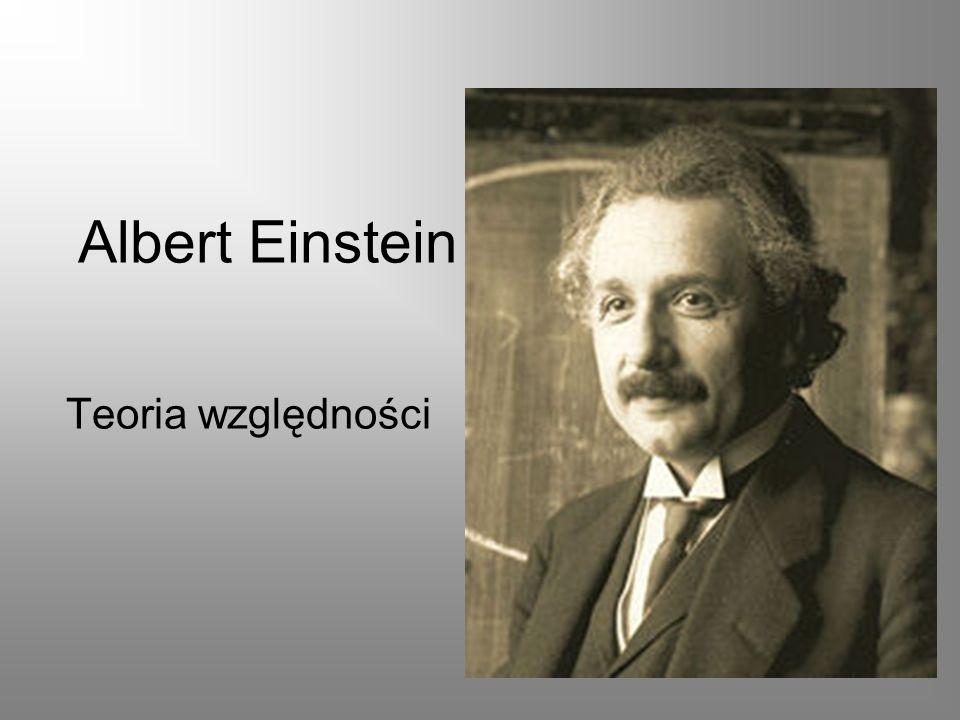 Albert Einstein urodził się w Ulm w rodzinie żydowskiego handlarza i drobnego przedsiębiorcy.Ulmżydowskiego W 1896 zdaje maturę i rozpoczyna studia na Politechnice w Zurychu z zamiarem otrzymania dyplomu nauczyciela matematyki i fizyki, jednocześnie rezygnuje z obywatelstwa niemieckiego.1896Zurychu W roku 1905 określanym jako Annus Mirabilis (cudowny rok) publikuje w Annalen der Physik przełomowe prace.