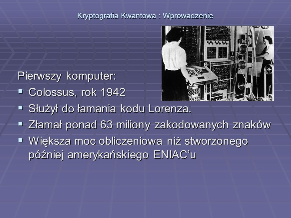 Kryptografia Kwantowa : Wprowadzenie Algorytm RSA