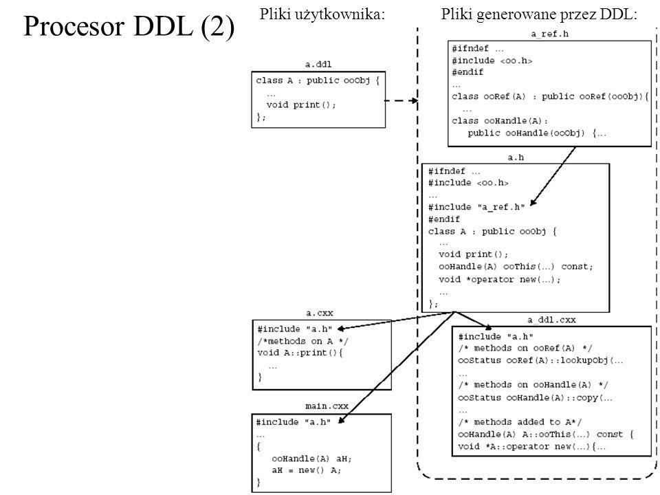 Procesor DDL (2) Pliki generowane przez DDL:Pliki użytkownika: