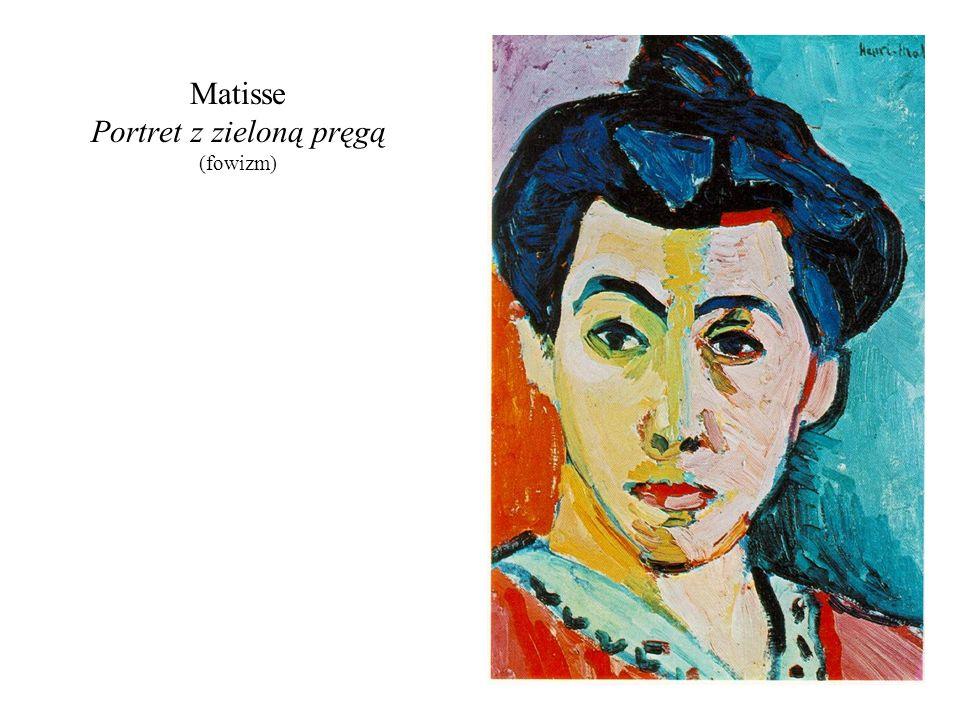 Matisse Portret z zieloną pręgą (fowizm)