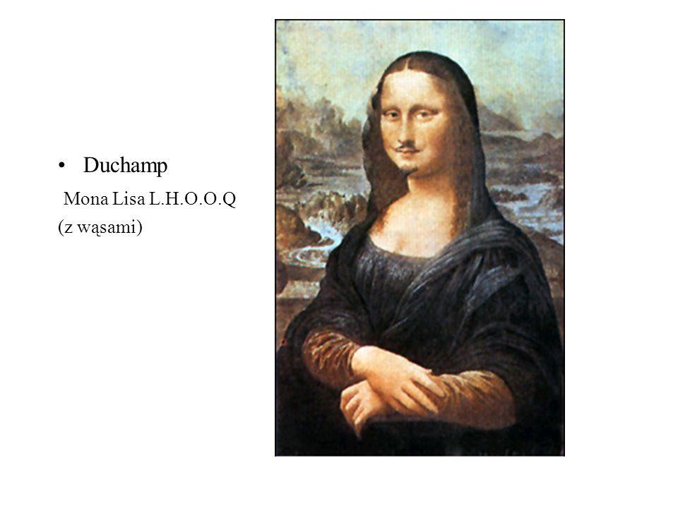 D Duchamp Mona Lisa L.H.O.O.Q (z wąsami)