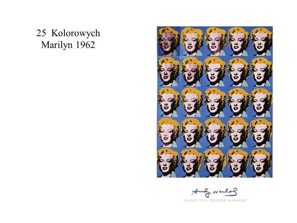 25 Kolorowych Marilyn 1962