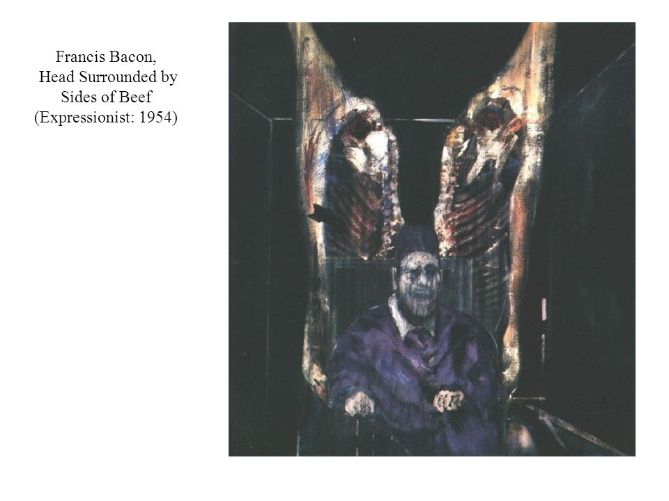 Francis Bacon, Head Surrounded by Sides of Beef (Expressionist: 1954)