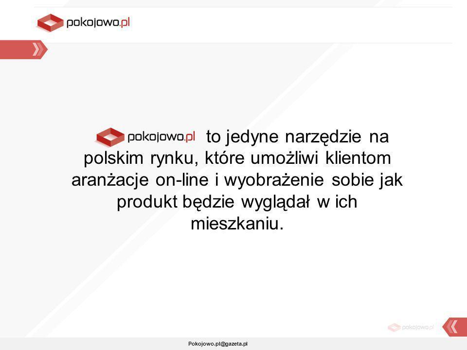 Pokojowo.pl@gazeta.pl to jedyne narzędzie na polskim rynku, które umożliwi klientom aranżacje on-line i wyobrażenie sobie jak produkt będzie wyglądał