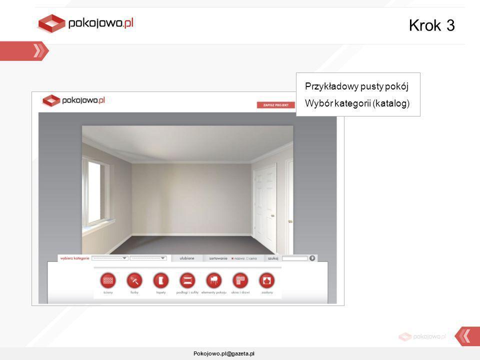 Pokojowo.pl@gazeta.pl Przykładowy pusty pokój Wybór kategorii (katalog) Krok 3