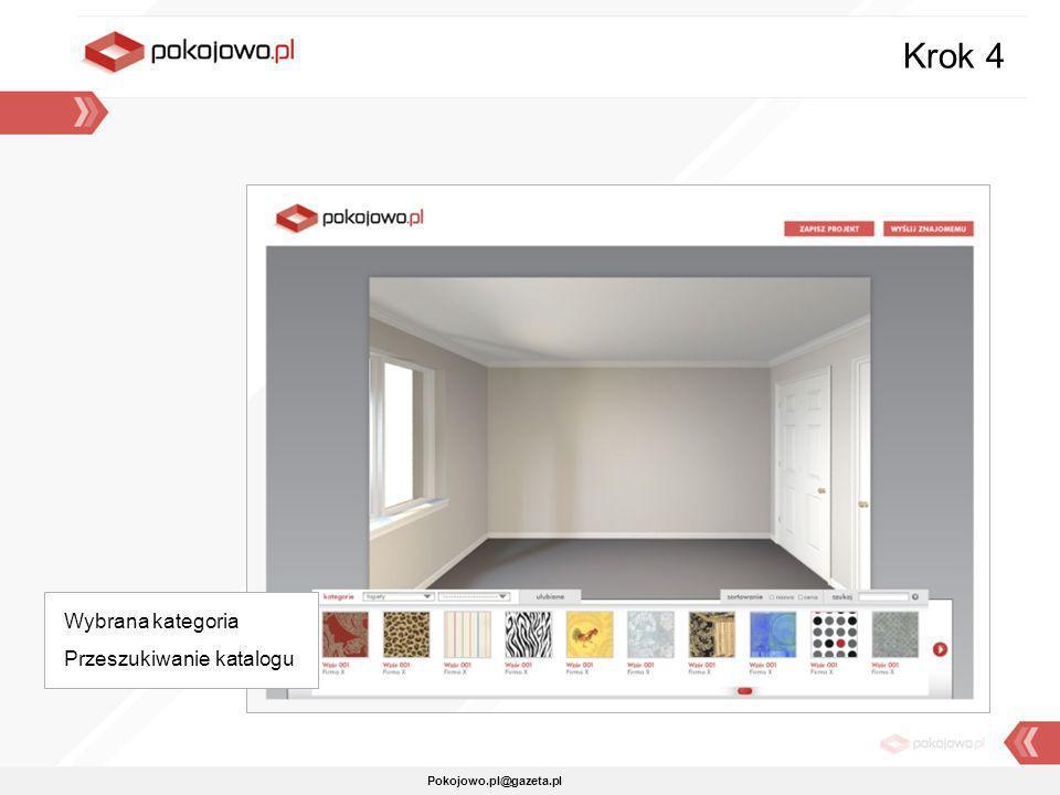 Pokojowo.pl@gazeta.pl Krok 4 Wybrana kategoria Przeszukiwanie katalogu