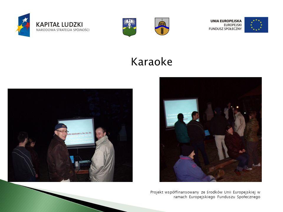 Karaoke Projekt współfinansowany ze środków Unii Europejskiej w ramach Europejskiego Funduszu Społecznego