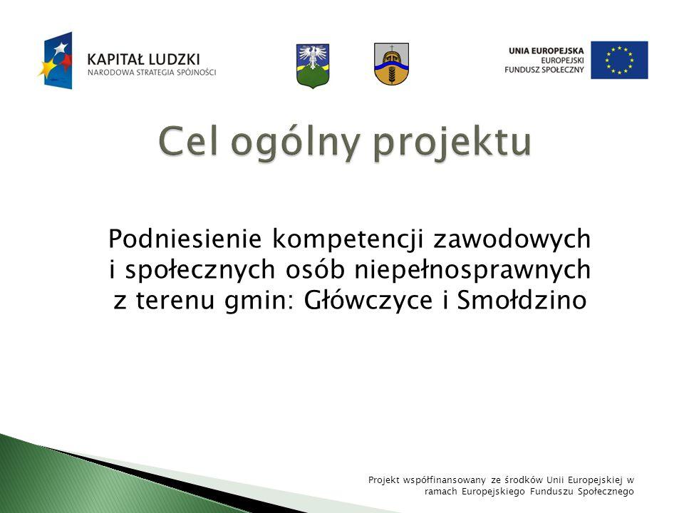 Podniesienie kompetencji zawodowych i społecznych osób niepełnosprawnych z terenu gmin: Główczyce i Smołdzino