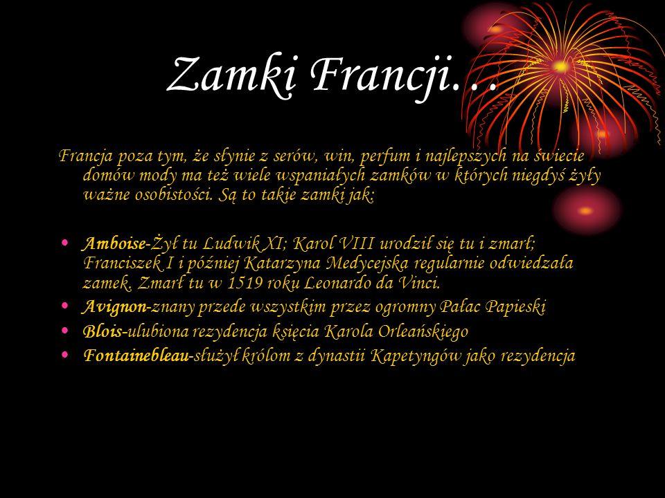Zamki Francji… Francja poza tym, że słynie z serów, win, perfum i najlepszych na świecie domów mody ma też wiele wspaniałych zamków w których niegdyś