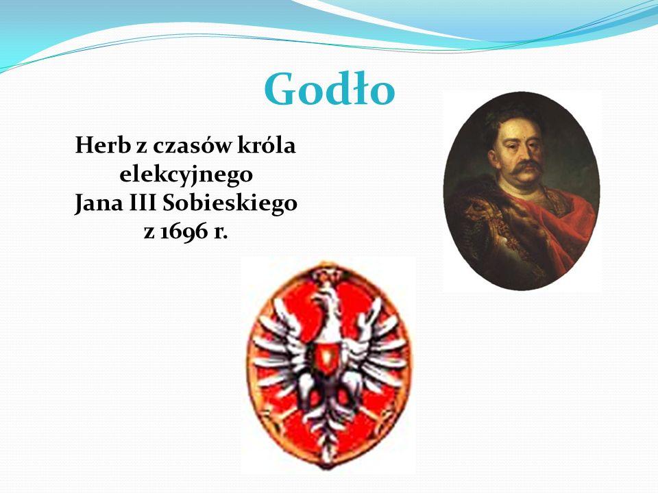 Godło Herb z czasów króla elekcyjnego Jana III Sobieskiego z 1696 r.