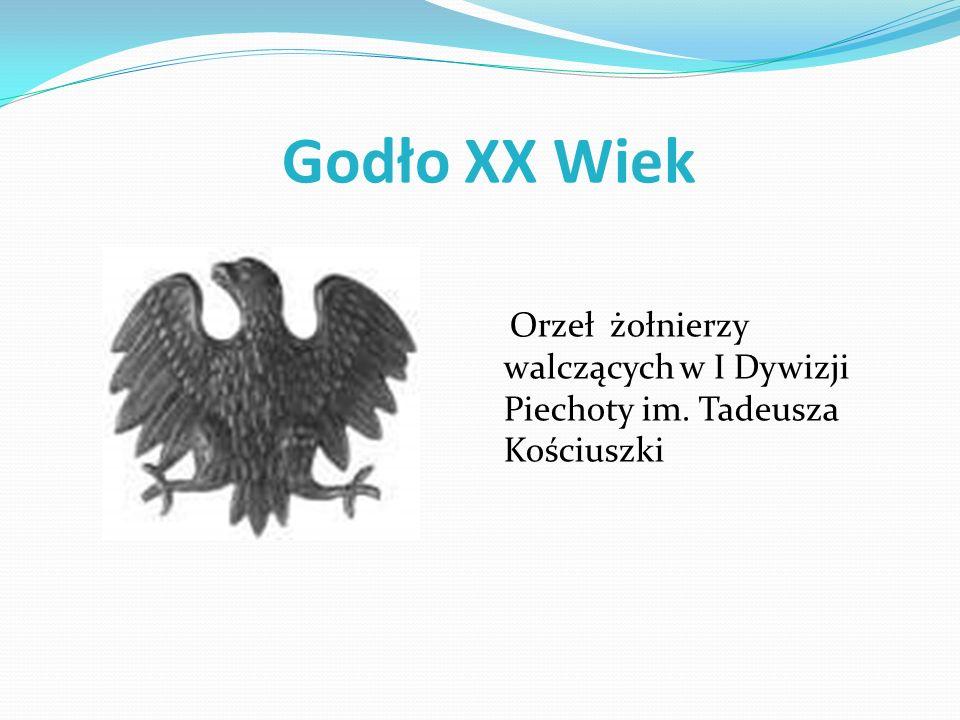 Godło XX Wiek Orzeł żołnierzy walczących w I Dywizji Piechoty im. Tadeusza Kościuszki