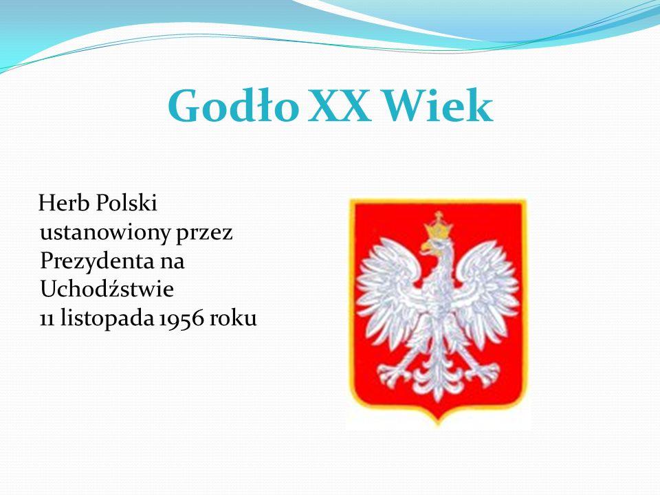 Godło XX Wiek Herb Polski ustanowiony przez Prezydenta na Uchodźstwie 11 listopada 1956 roku