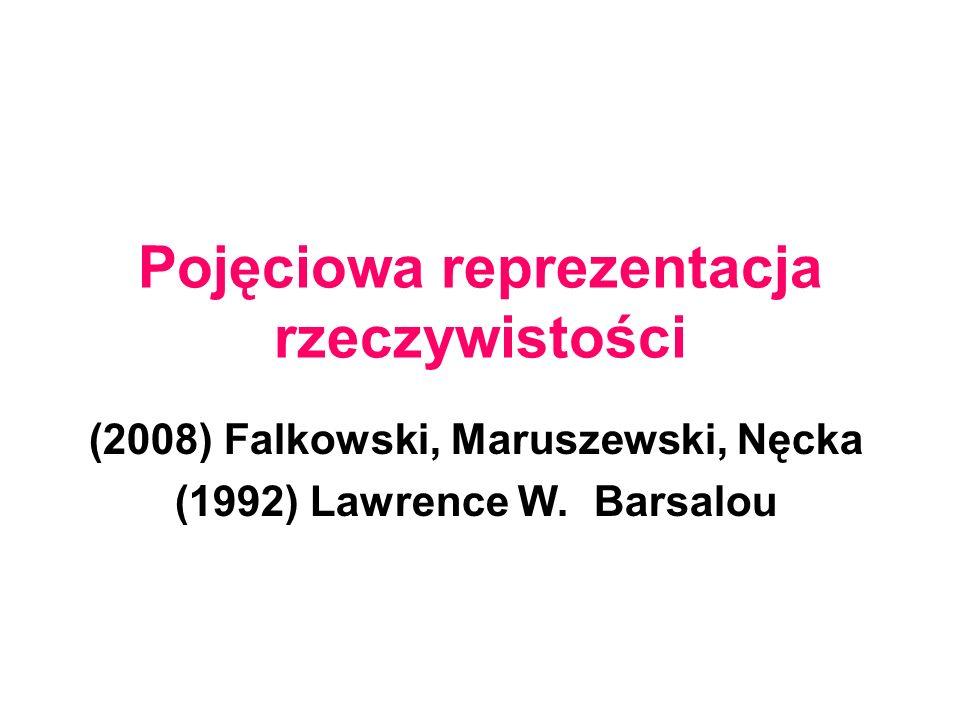 Pojęciowa reprezentacja rzeczywistości (2008) Falkowski, Maruszewski, Nęcka (1992) Lawrence W.