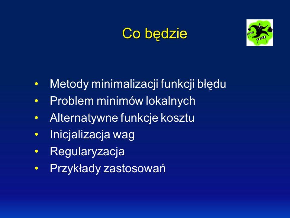 Lokalne minima Globalna minimalizacja: wiele metod.wiele metod Najprostsza metoda: wielokrotne starty.