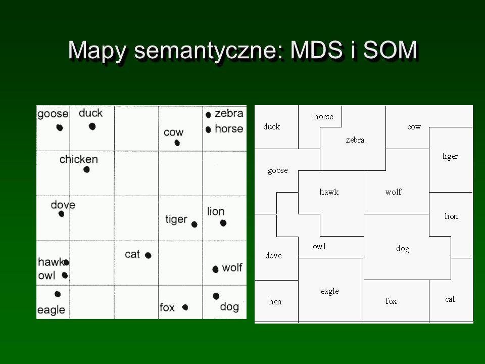 Mapy semantyczne: MDS i SOM