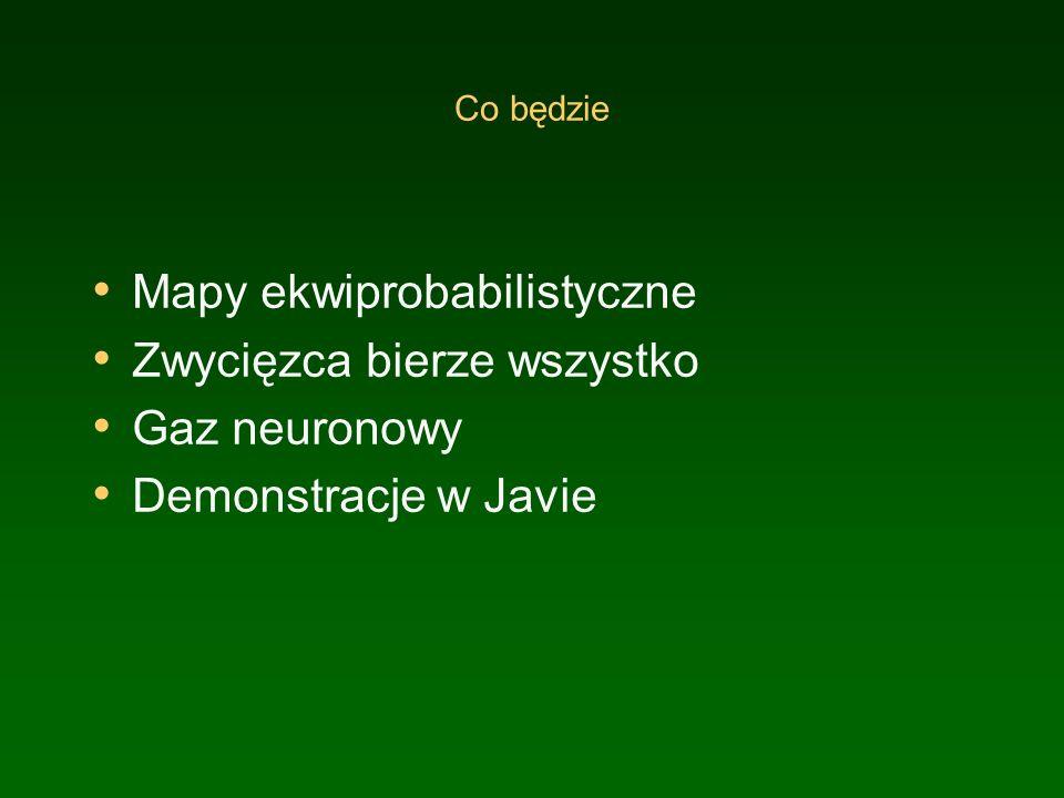 Co będzie Mapy ekwiprobabilistyczne Zwycięzca bierze wszystko Gaz neuronowy Demonstracje w Javie