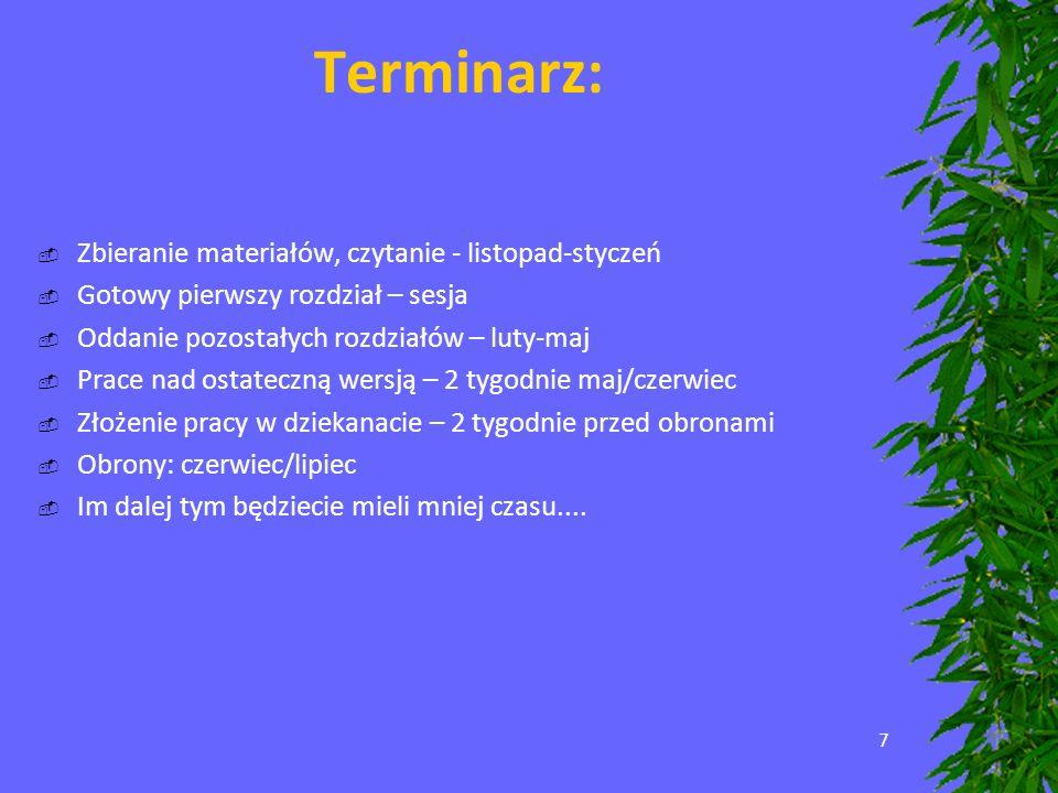 18 Uważajcie na użycie :d:w:u:k:r:o:p:k:a: i zakresu jaki obejmuje wyliczenie – musi być wyraźnie widoczne, gdzie się kończy Skrót ShiftF7 włącza Tezaurusa – słownik wyrazów bliskoznacznych.