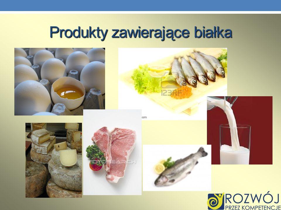 Produkty zawierające białka