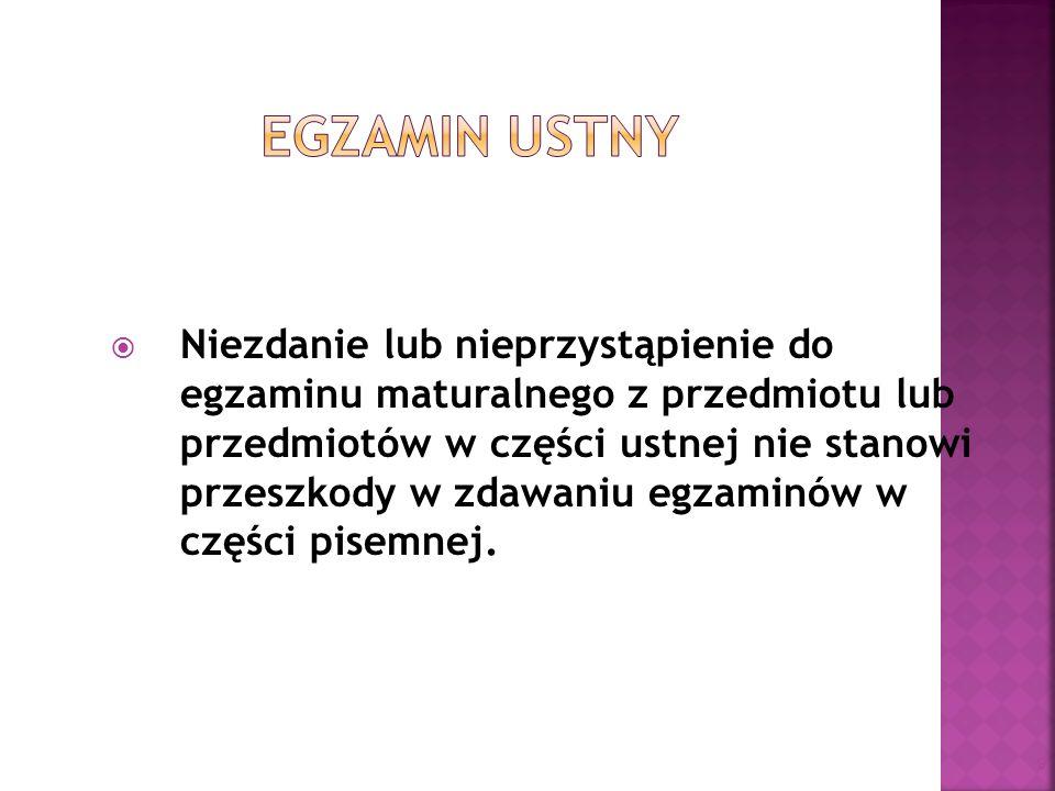Do 4 kwietnia 2011 roku należy przekazać przewodniczącemu zespołu egzaminacyjnego (dyrektorowi szkoły) bibliografię wykorzystaną do opracowania wybranego tematu.