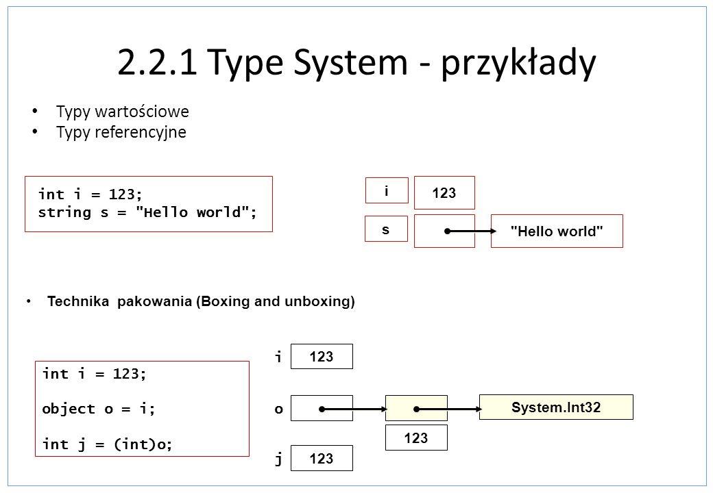 System.Collections.Generic - przykład using System; using System.Collections.Generic; namespace KolekcjeGeneryczne { class Program { static void Main(string[] args) { List lista = new List (); lista.Add(2); lista.Add(5); int suma = lista[0] + lista[1]; Console.WriteLine( Suma wynosi: + suma); Console.ReadKey(); }