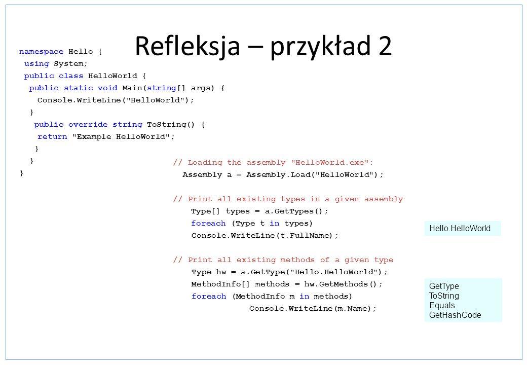 Refleksja – przykład 2 // Loading the assembly