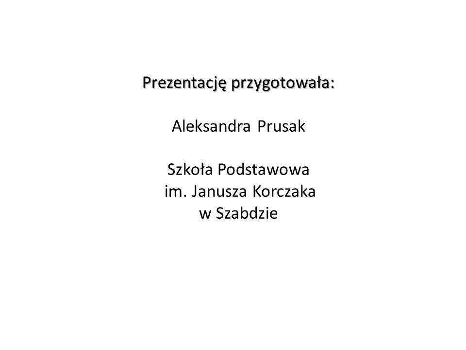 Prezentację przygotowała: Aleksandra Prusak Szkoła Podstawowa im. Janusza Korczaka w Szabdzie