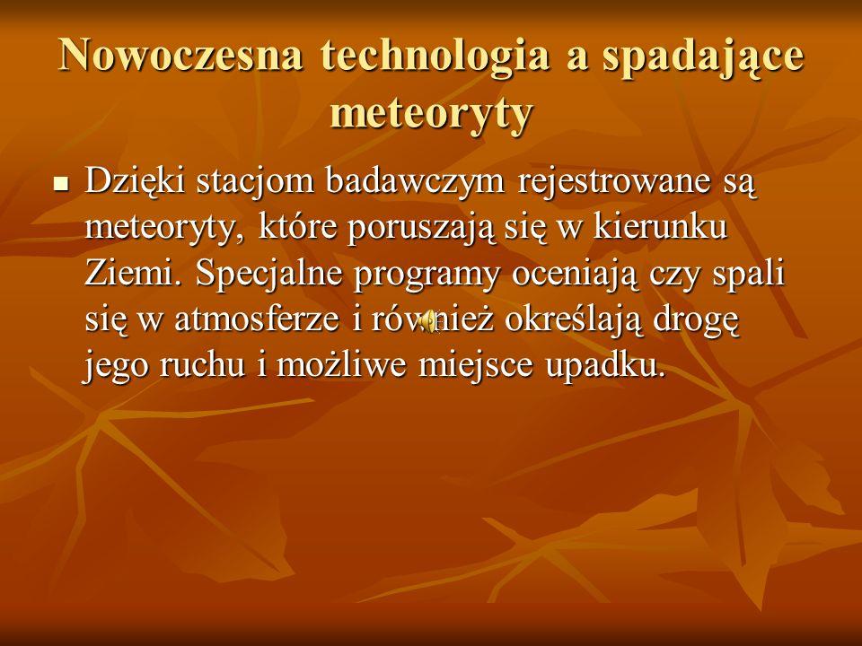 Spadający meteoryt (symulacja komputerowa)