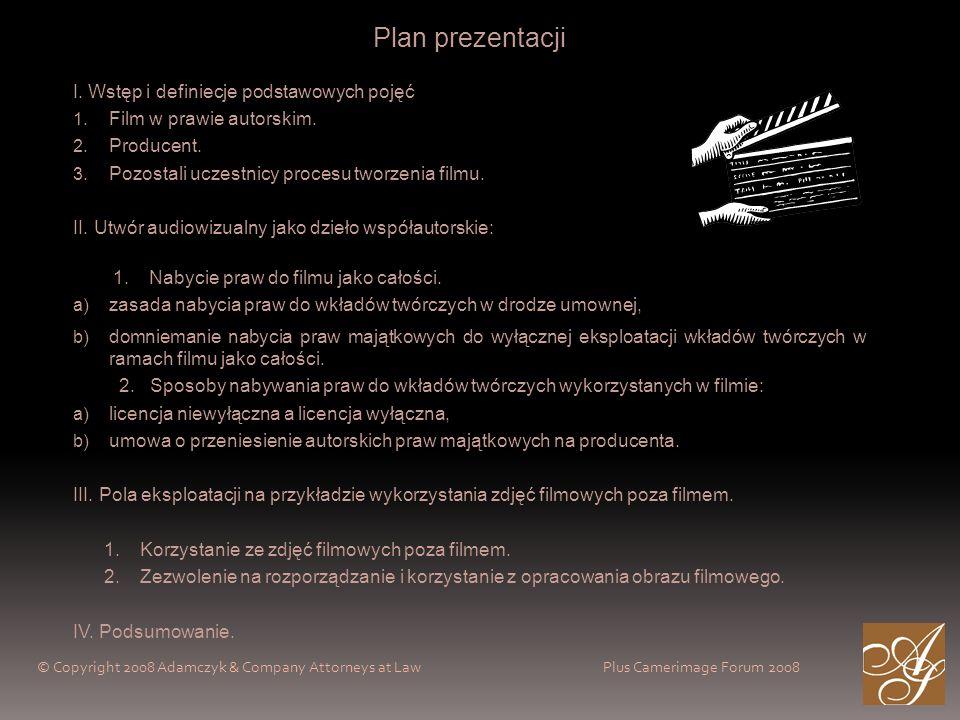 Plan prezentacji I. Wstęp i definiecje podstawowych pojęć 1.