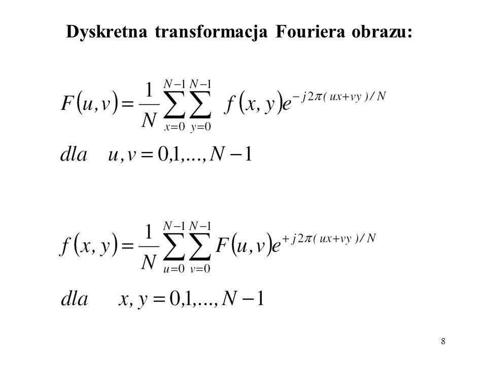 8 Dyskretna transformacja Fouriera obrazu: