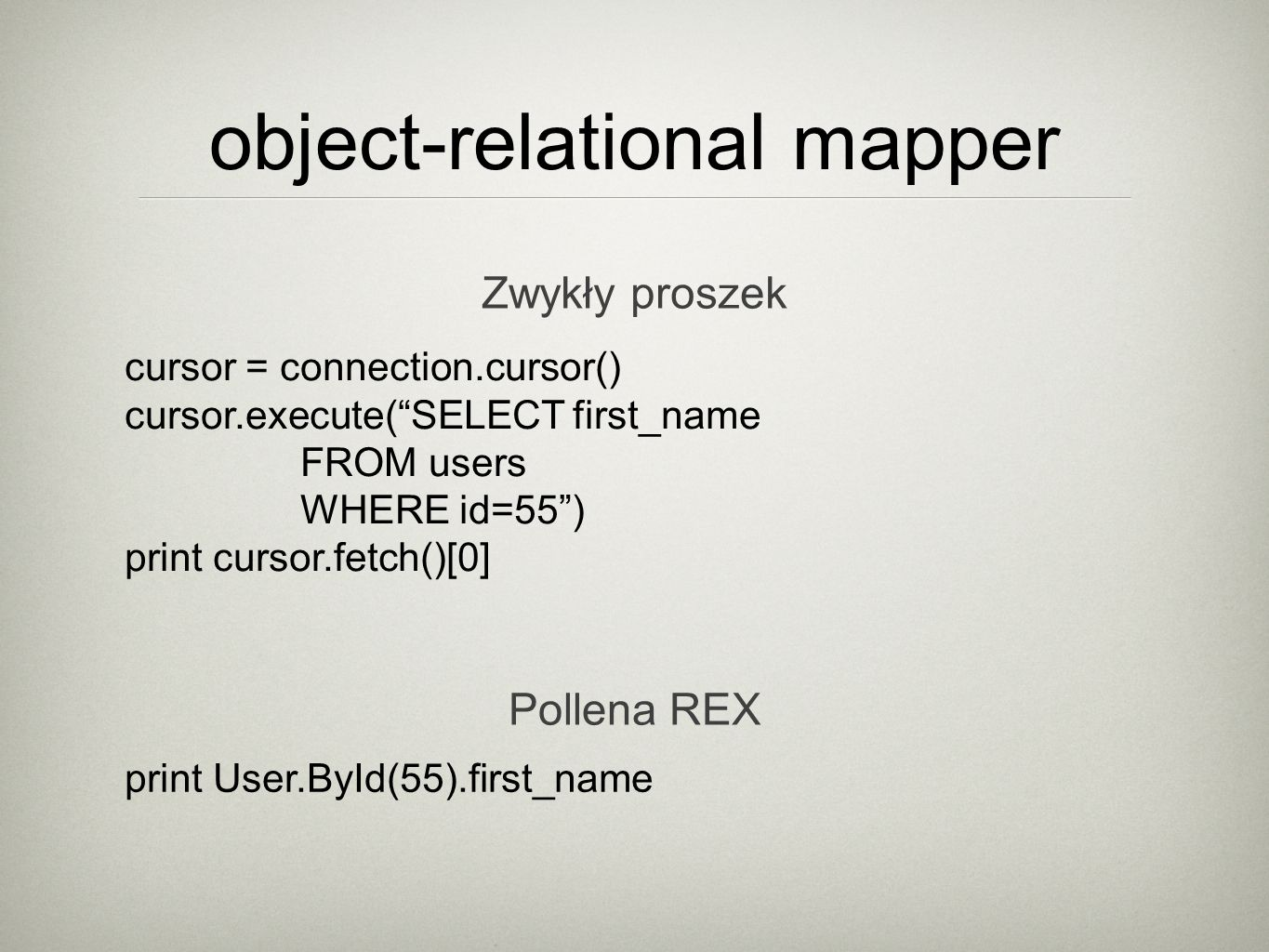 universal python framework Object Query Language Object-Relational Mapper Remote Object Access Event Manager Workers System File Storage System