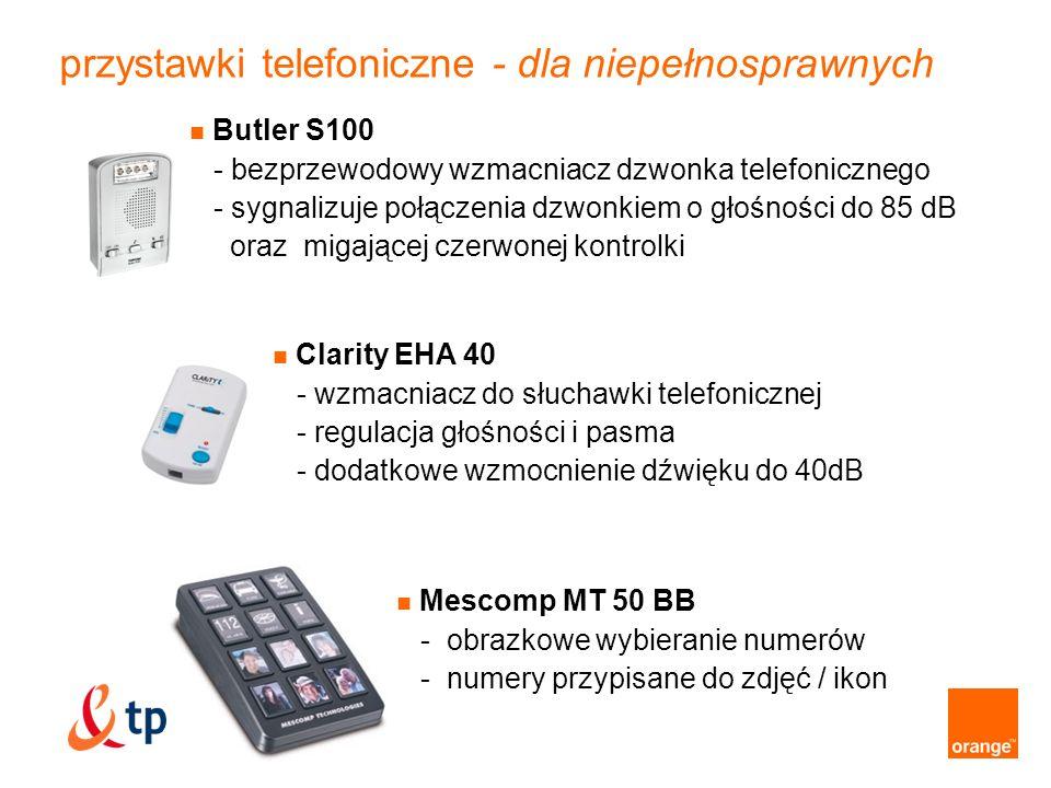 przystawki telefoniczne - dla niepełnosprawnych Butler S100 - bezprzewodowy wzmacniacz dzwonka telefonicznego - sygnalizuje połączenia dzwonkiem o gło