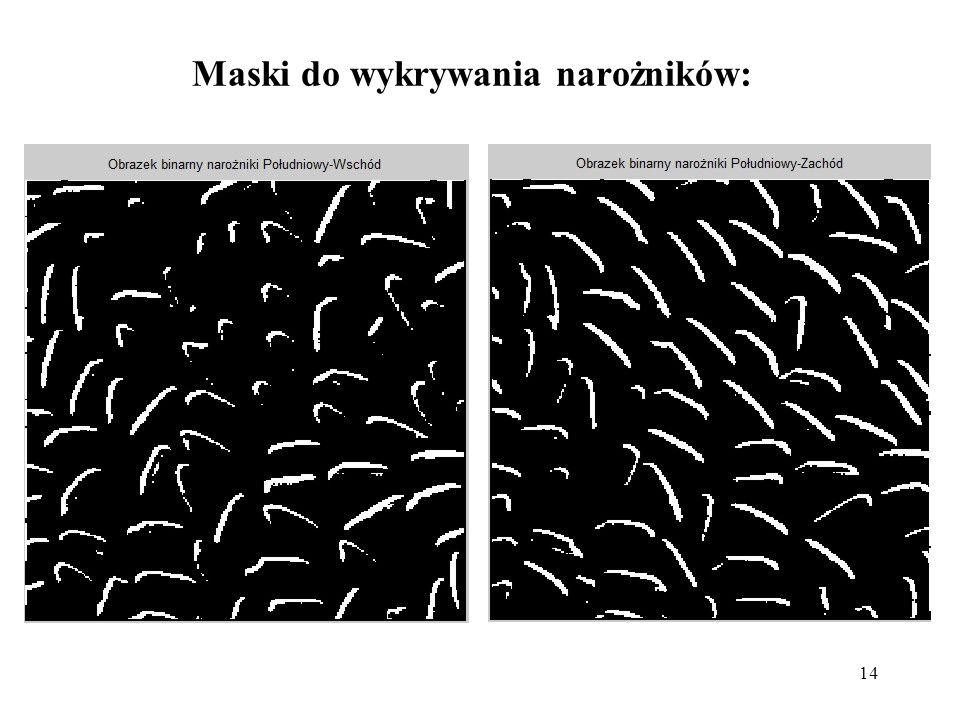 14 Maski do wykrywania narożników: