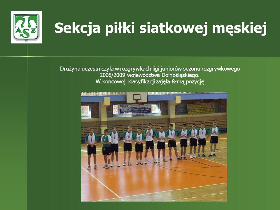 Drużyna uczestniczyła w rozgrywkach ligi juniorów sezonu rozgrywkowego 2008/2009 województwa Dolnośląskiego. W końcowej klasyfikacji zajęła 8-mą pozyc