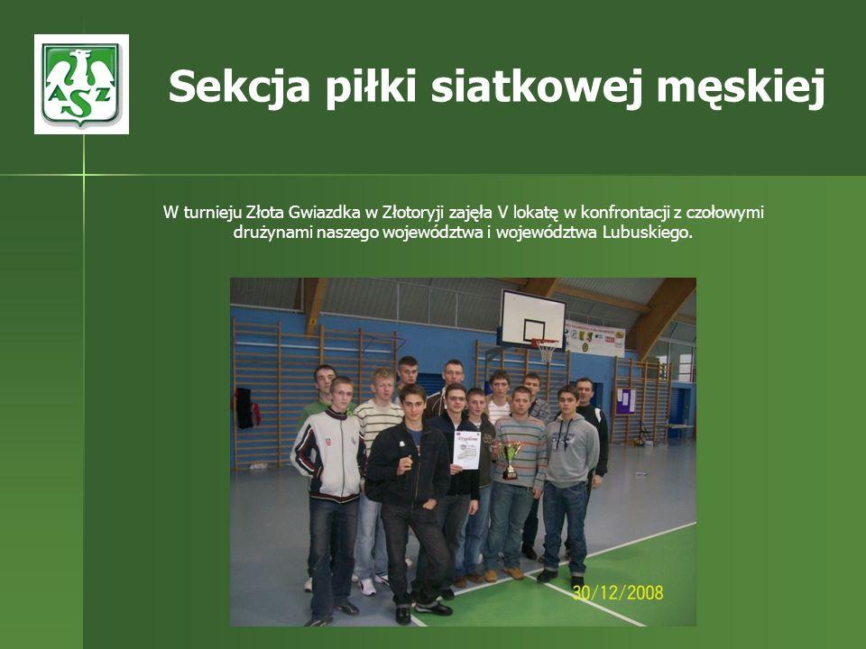 W turnieju Złota Gwiazdka w Złotoryji zajęła V lokatę w konfrontacji z czołowymi drużynami naszego województwa i województwa Lubuskiego. Sekcja piłki