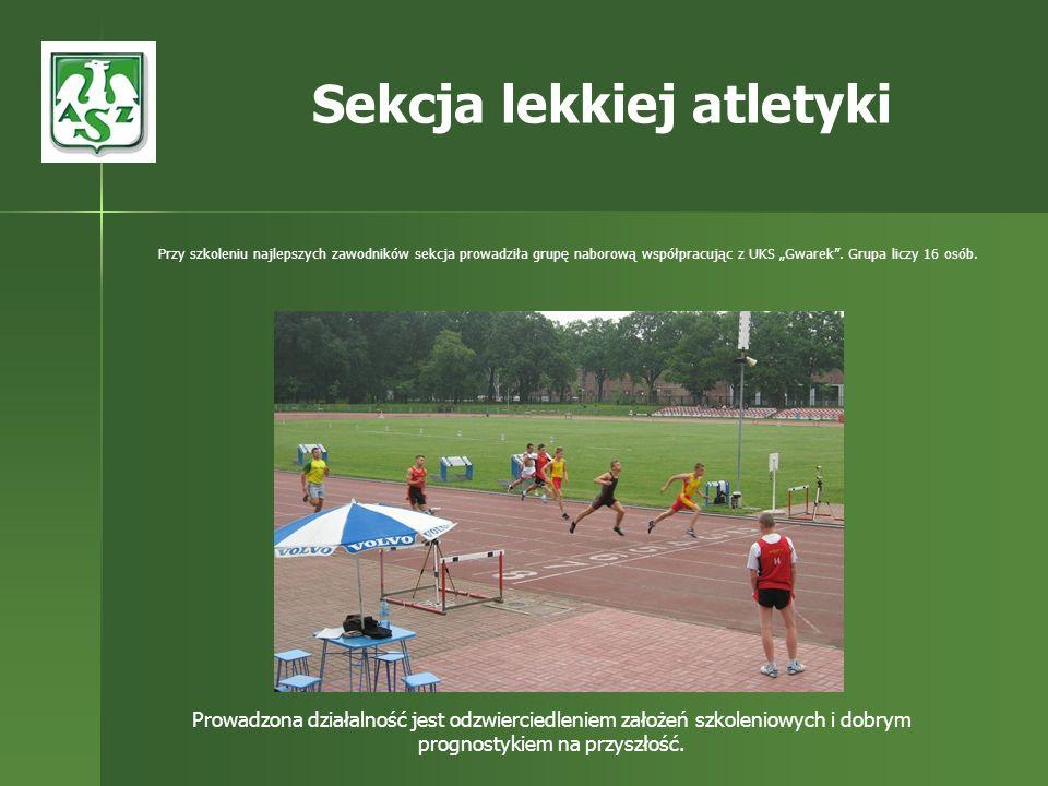 Przy szkoleniu najlepszych zawodników sekcja prowadziła grupę naborową współpracując z UKS Gwarek. Grupa liczy 16 osób. Sekcja lekkiej atletyki Prowad