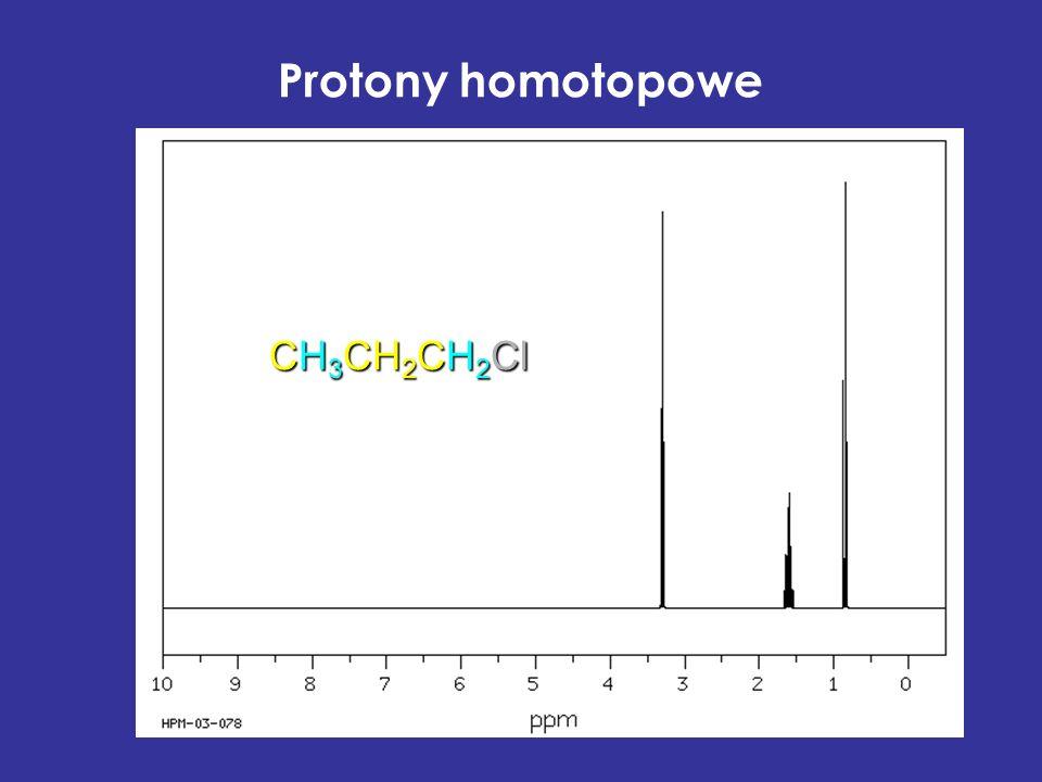 Protony homotopowe CH 3 CH 2 CH 2 Cl
