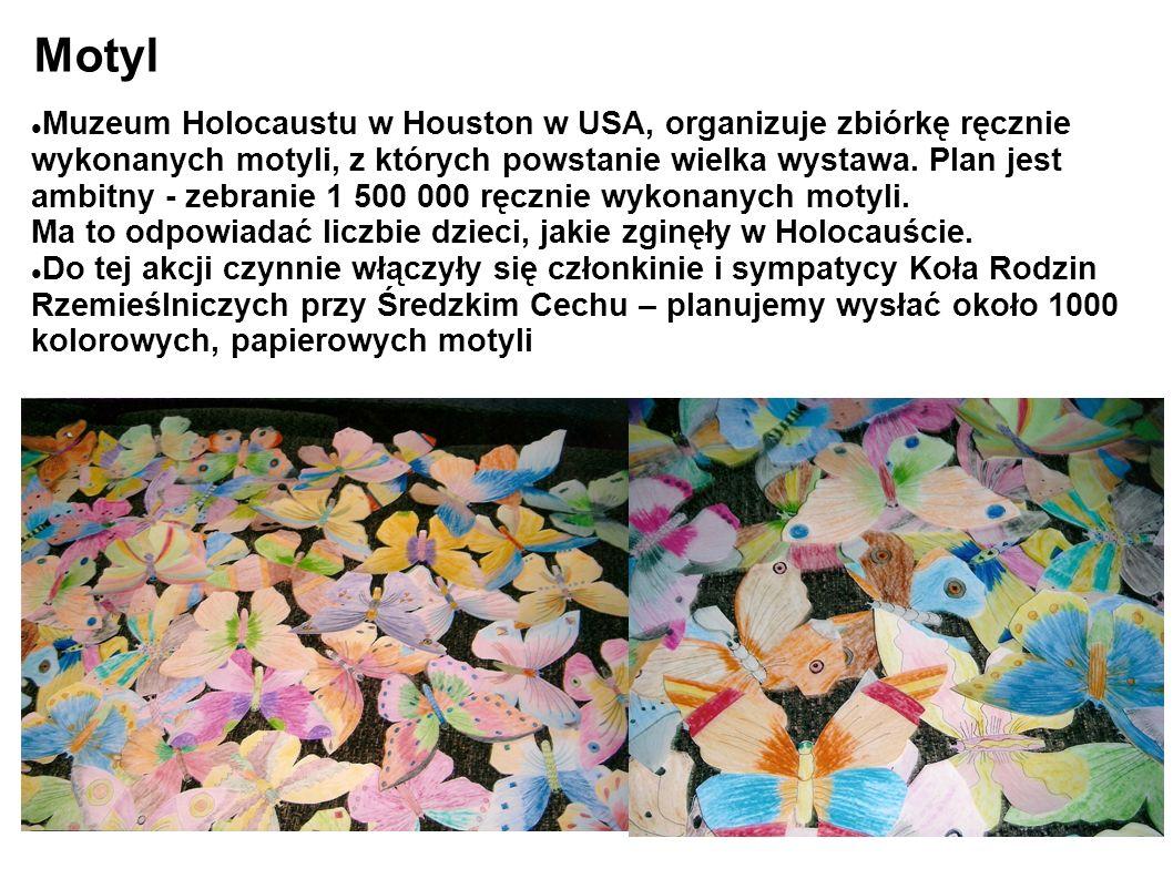 Motyl Muzeum Holocaustu w Houston w USA, organizuje zbiórkę ręcznie wykonanych motyli, z których powstanie wielka wystawa.